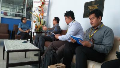Survey liaisong dan SkDU bersama Kepala KPw BI Gorontalo